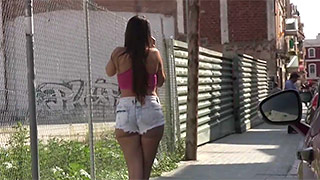 Dirty teen slut screwed right on the street