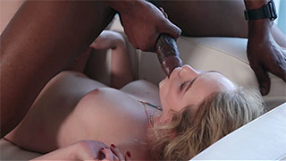 Ravishing babe gets fucked by a monster black cock