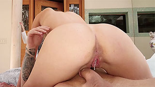 Horny young beauty is having pussy creampied