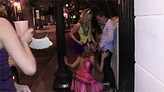Three sexy gals go wild on Mardi Gras