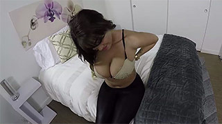 Gorgeous busty slut screwed in the car