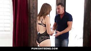 Dirty slut gets dominated by two hung studs